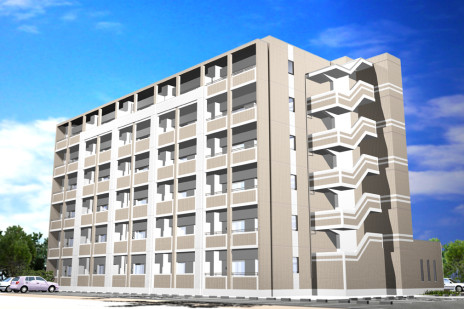CG建築パース。マンション