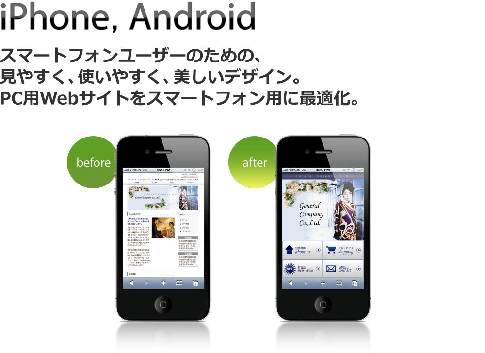 スマートフォン用WEBサイトの最適化 iPhone・Android