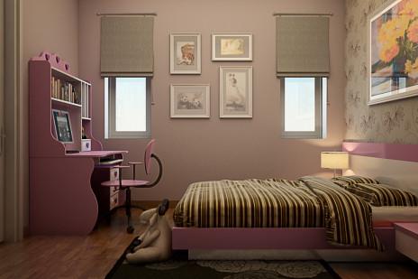 CG建築パース。内装寝室